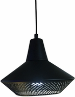 EGLO 202129A Piondro Contemporary Matte Black Hanging Light Fixture