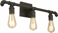 EGLO 202841A Wymer Contemporary Matte Bronze 3-Light Bathroom Lighting