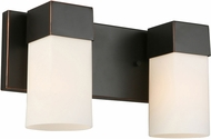 EGLO 202861A Ciara Springs Modern Oil Rubbed Bronze 2-Light Bathroom Lighting Fixture