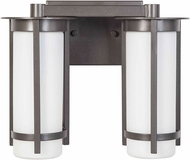 EGLO 203119A Truxton Modern Graphite 2-Light Bathroom Light Fixture