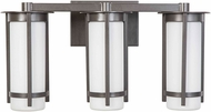 EGLO 203121A Truxton Contemporary Graphite 3-Light Bathroom Vanity Lighting