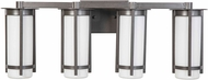 EGLO 203122A Truxton Modern Graphite 4-Light Bathroom Vanity Light