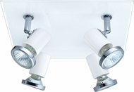EGLO 31264A Tamara 1 Modern White & Chrome Halogen Ceiling Indoor Spot Lighting