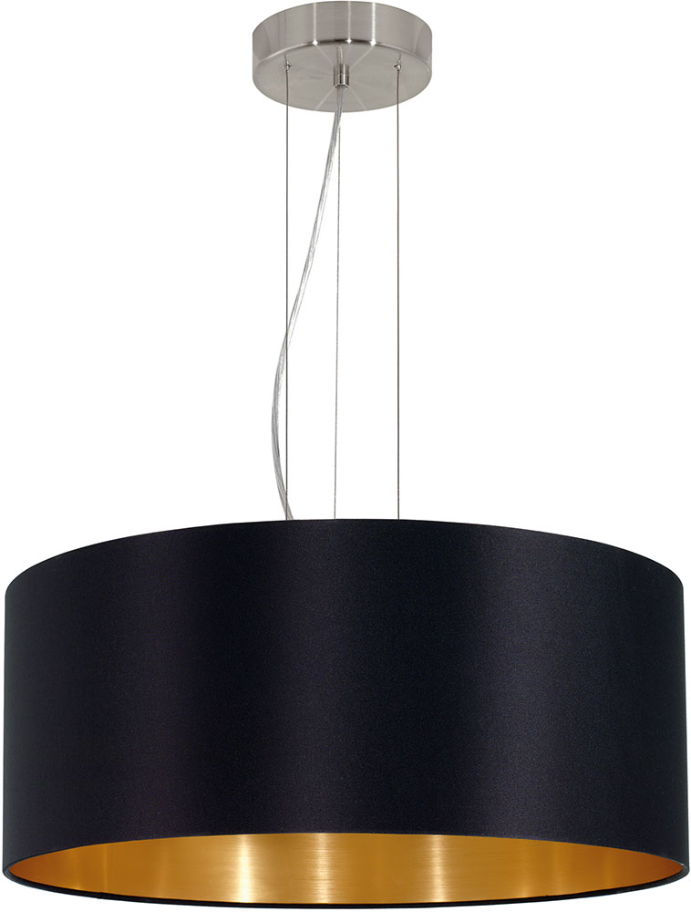 Eglo 31605a maserlo contemporary satin nickel drum pendant Modern pendant lighting