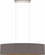 EGLO 31619A Maserlo Contemporary Satin Nickel Island Light Fixture