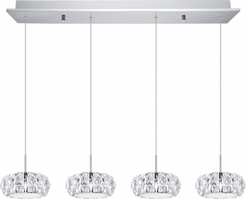 EGLO 39007A Corliano Chrome LED Multi Pendant Lighting Fixture