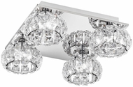 EGLO 39009A Corliano Chrome LED Flush Ceiling Light Fixture