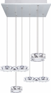 EGLO 39013A Corliano Chrome LED Multi Pendant Hanging Light