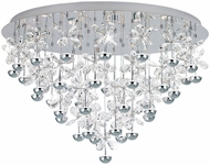 EGLO 39246A Pianopoli Modern Chrome LED Flush Lighting
