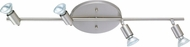 EGLO 83049A Buzz Modern Matte Nickel & Chrome Halogen 4-Light Home Track Lighting