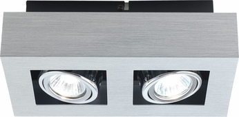 EGLO 89076A Loke Modern Black & Chrome Flush Mount Light Fixture