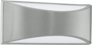 EGLO 91769A Volpino Contemporary Silver LED Outdoor Wall Sconce Lighting