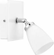 EGLO 91778A Katoro Contemporary Chrome & White Halogen Wall Light Sconce