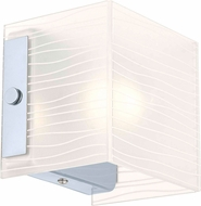 EGLO 91984A Alea 1 Contemporary Chrome Halogen Wall Sconce Light