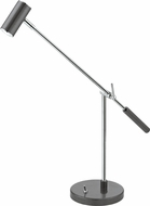 EGLO 92514A Lauria Modern Glossy White & Chrome LED Reading Light