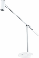 EGLO 92515A Lauria Contemporary Glossy White & Chrome LED Reading Lamp