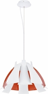 EGLO 92844A Tressi Contemporary Glossy White & Orange Pendant Lamp