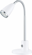 EGLO 92872A Fox Modern White & Chrome Halogen Desk Lamp