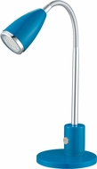 EGLO 92875A Fox Contemporary Blue & Chrome Halogen Craft Lamp