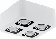 EGLO 93013A Toreno Modern Glossy White & Chrome Halogen Flush Mount Lighting