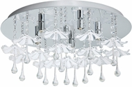 EGLO 93053A Ocondo Chrome Halogen Overhead Lighting Fixture
