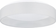 EGLO 93387A Palomaro Modern White Fabric LED 16  Flush Lighting
