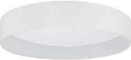 EGLO 93388A Palomaro Contemporary White Fabric LED 19.375  Flush Mount Lighting