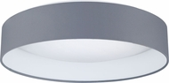 EGLO 93396A Palomaro Contemporary Black Fabric LED 16  Flush Mount Light Fixture