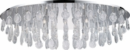 EGLO 93414A Calaonda Chrome Halogen Flush Mount Lighting Fixture