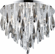 EGLO 93433A Calaonda Chrome Halogen Flush Ceiling Light Fixture