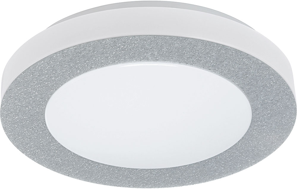 EGLO 93507A Carpi 1 Modern Chrome LED Flush Ceiling Light Fixture
