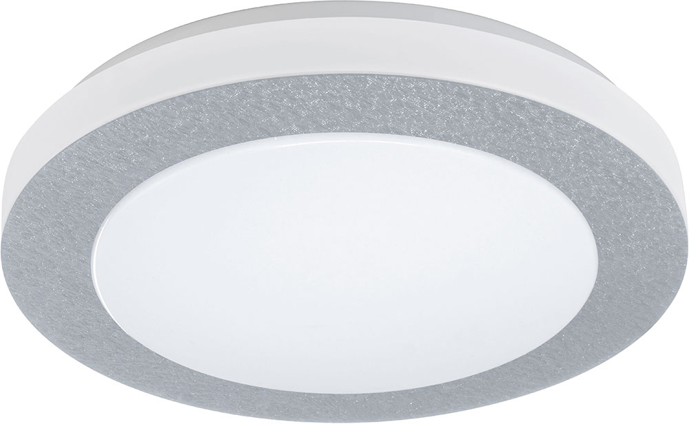 Eglo 93508a carpi 1 contemporary chrome led flush mount ceiling light fixture loading zoom