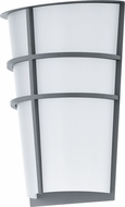 EGLO 94137A Breganzo Contemporary Silver LED Exterior Wall Light Fixture