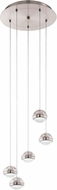 EGLO 94301A Lombes Contemporary Matte Nickel LED Multi Lighting Pendant