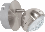 EGLO 94302A Lombes 1 Modern Matte Nickel LED Wall Sconce Lighting