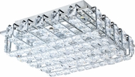 EGLO 94313A Lonzaso Chrome LED Flush Mount Light Fixture