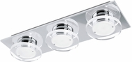 EGLO 94485A Cisterno Modern Chrome LED Flush Ceiling Light Fixture