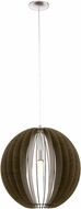 EGLO 94636A Cossano Modern Matte Nickel 20  Hanging Light