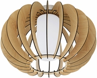 EGLO 95597A Stellato 1 Modern Maple Flush Mount Light Fixture