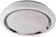 EGLO 96023A Capasso Contemporary White/Chrome LED Flush Ceiling Light Fixture