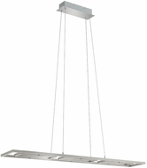 EGLO 96816A Tamasera Contemporary Matte Nickel LED Kitchen Island Light