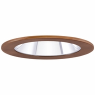 Elco EL1411CP Modern Copper 4 Adjustable Shower Recessed Lighting Trims With Clear Lens