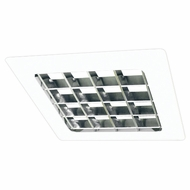 Elco EL15W Contemporary White Medium Base 8  Recessed Lighting Louvered Square Trim