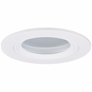 Elco EL2612W Modern White Medium Base 3  Halogen Line Voltage Recessed Light Die Cast Lensed Shower with Diffused Glass Trim