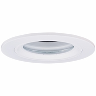 Elco EL2613W Contemporary White Medium Base 3  Halogen Line Voltage Down Lighting Die Cast Lensed Shower Trim