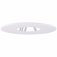 Elco EL2619WC Modern White with Clear Medium Base 3  Halogen Line Voltage Recessed Lighting Die Cast Pinhole with Reflector Trim