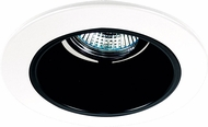 Elco EL2621B Modern Black with White Medium Base 3  Halogen Line Voltage Down Lighting Die Cast Adjustable Reflector Trim