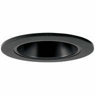Elco EL2621BB Contemporary Black Medium Base 3  Halogen Line Voltage Down Lighting Die Cast Adjustable Reflector Trim