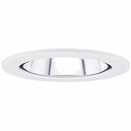 Elco EL2621C Contemporary Clear with White Medium Base 3  Halogen Line Voltage Recessed Lighting Die Cast Adjustable Reflector Trim