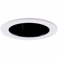 Elco EL2622B Contemporary Black with White Medium Base 3  Halogen Line Voltage Recessed Light Die Cast Adjustable Wall Wash Reflector Trim